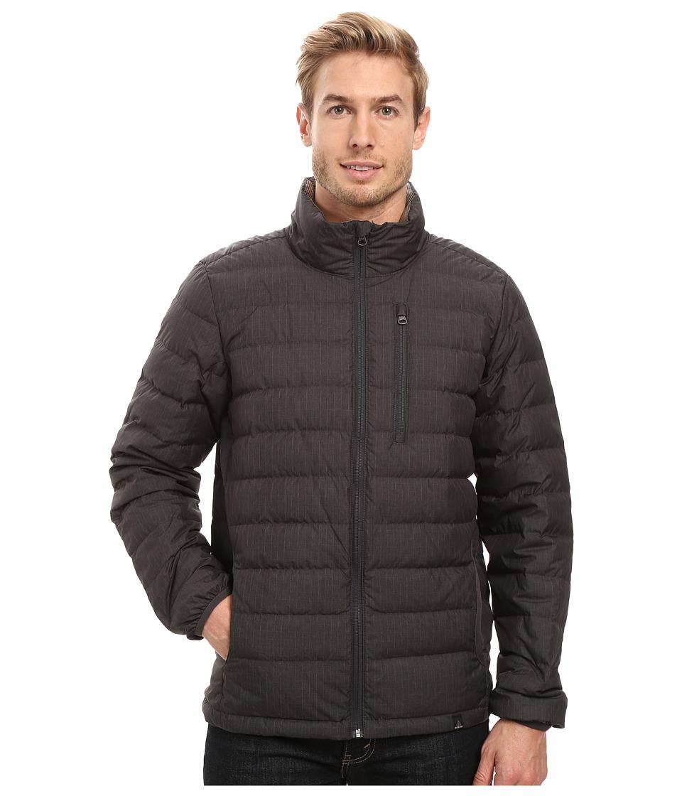 Prana - Lasser Collared Jacket (Charcoal) Men's Coat