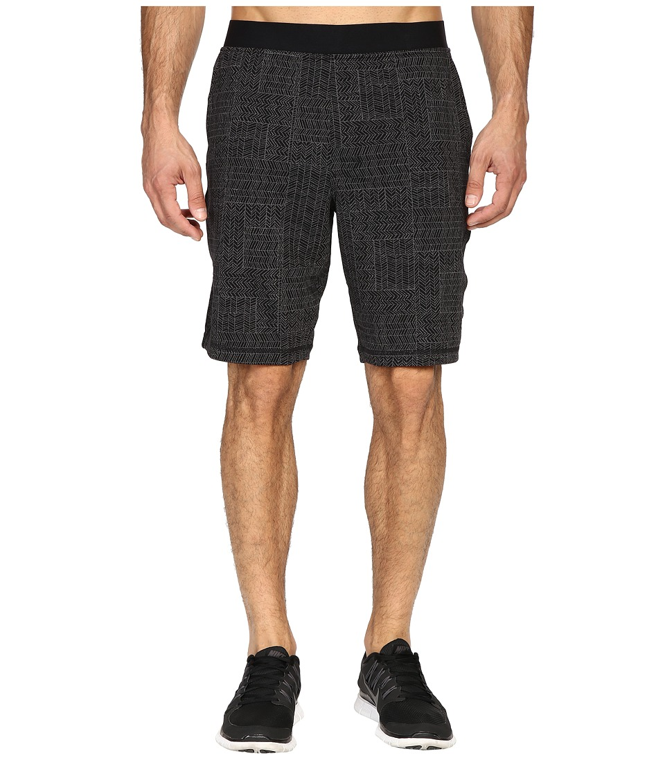 Prana - Mojo Chakara (Black Geo) Men's Shorts