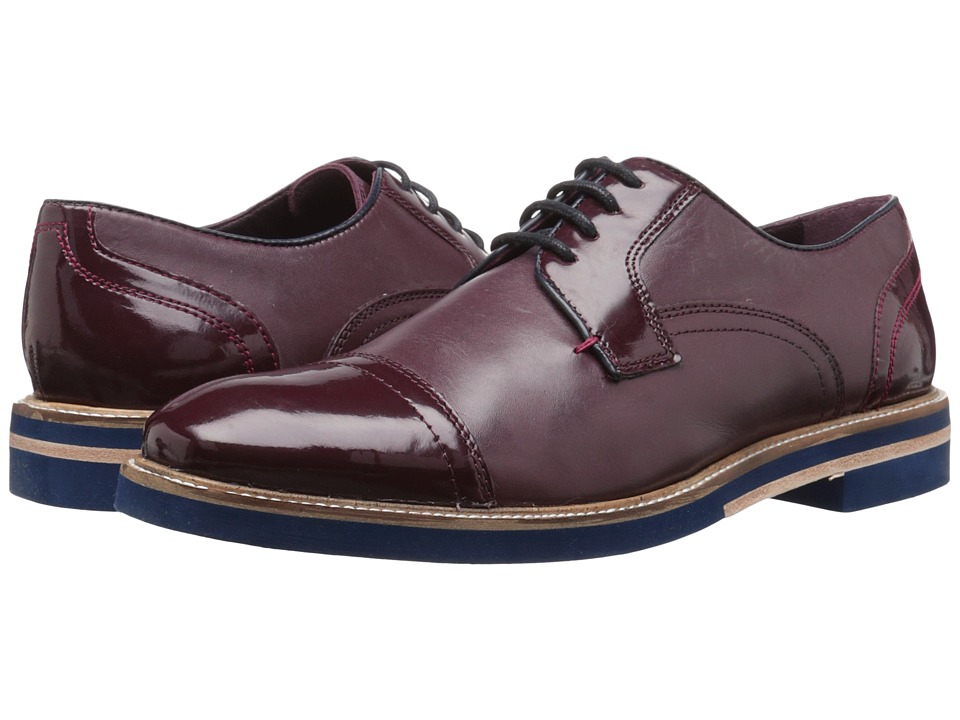 Ted Baker - Braythe 2 (Dark Red Leather) Men's Lace Up Cap Toe Shoes