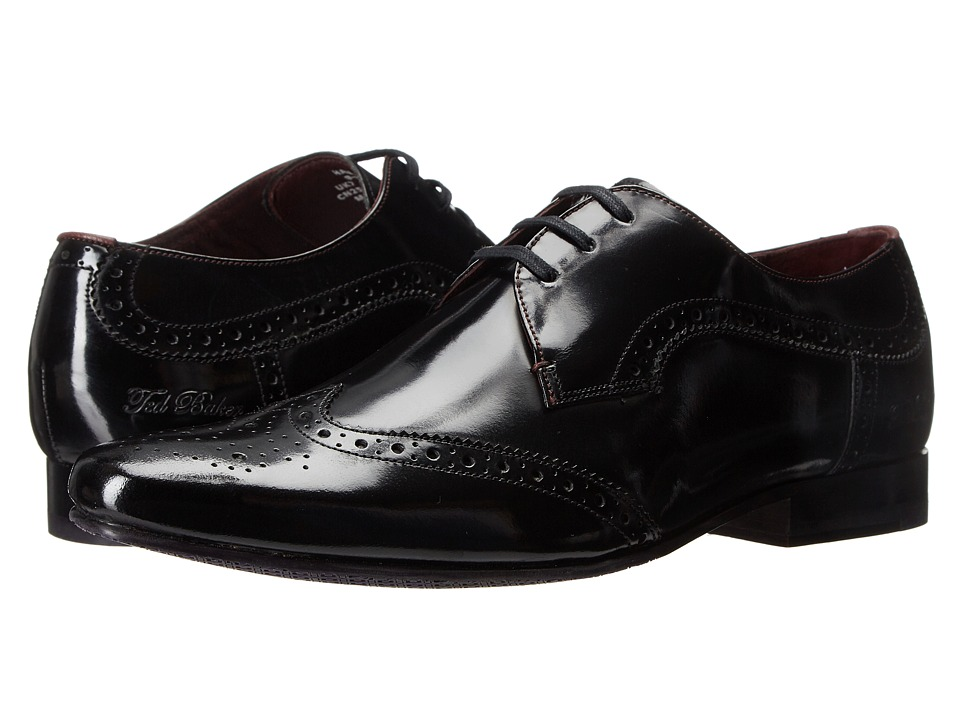 Ted Baker - Hamniy 2 (Black High Shine Leather) Men's Shoes