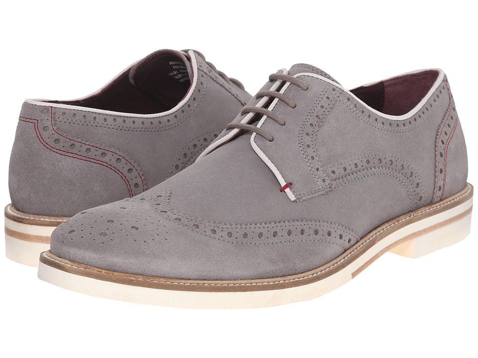 Ted Baker - Archerr 2 (Light Grey Suede) Men's Lace Up Wing Tip Shoes
