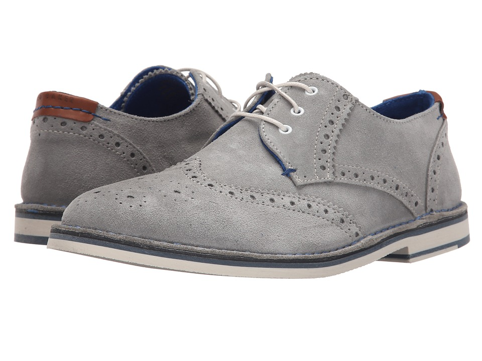 Ted Baker - Jamfro 7 (Light Grey Suede) Men's Lace Up Wing Tip Shoes