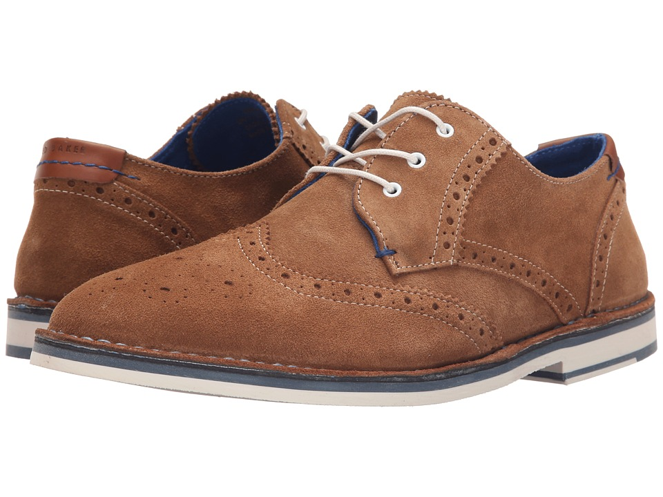 Ted Baker - Jamfro 7 (Tan Suede) Men's Lace Up Wing Tip Shoes
