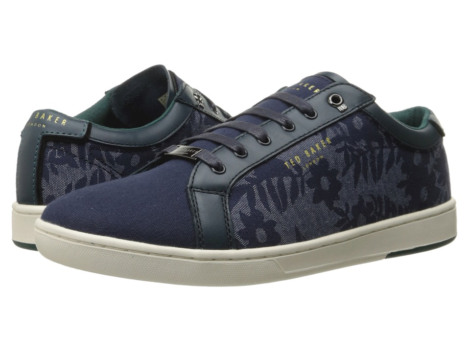 Ted Baker - Keeran 3 (Blue/White Textile) Men's Lace up casual Shoes