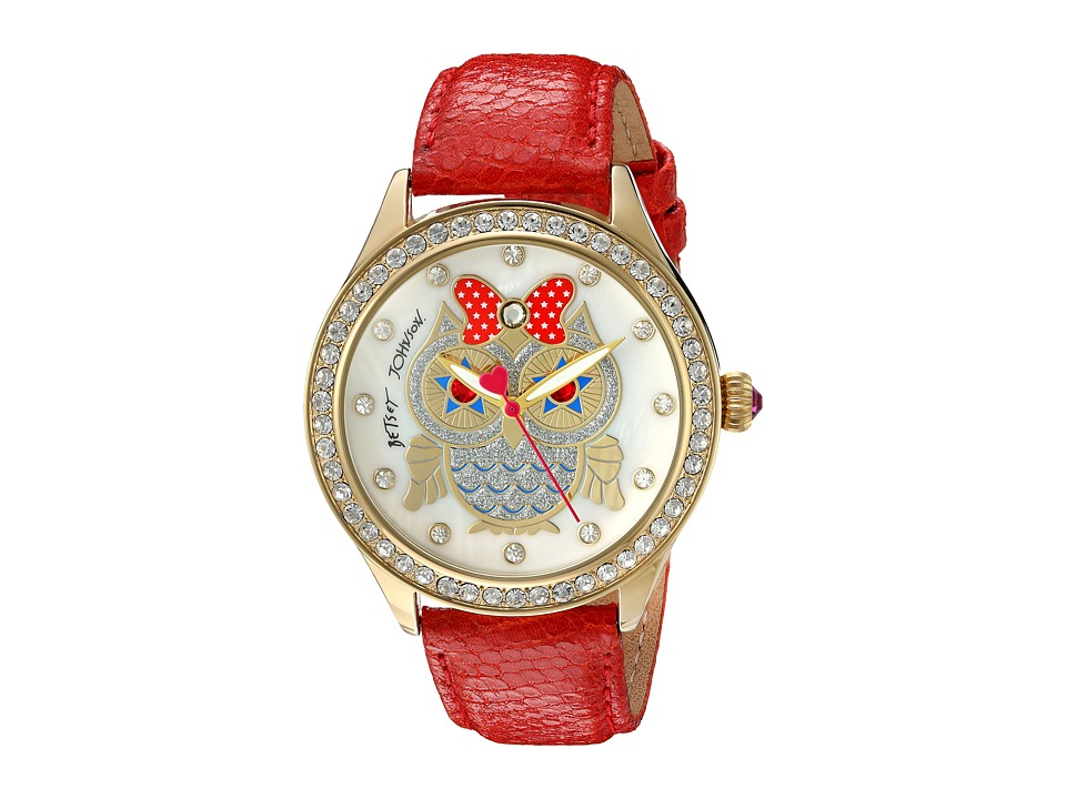 Betsey Johnson - BJ00131-76 - Patriotic Owl (Red/Gold) Watches