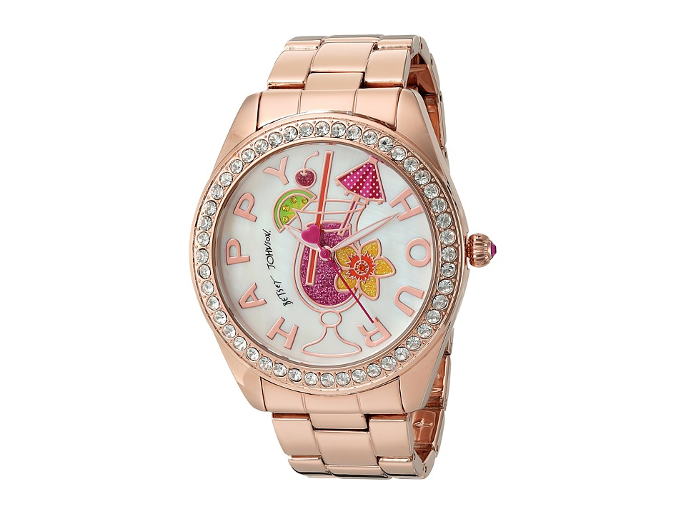 Betsey Johnson - BJ00249-30 - Happy Hour (Rose Gold) Watches