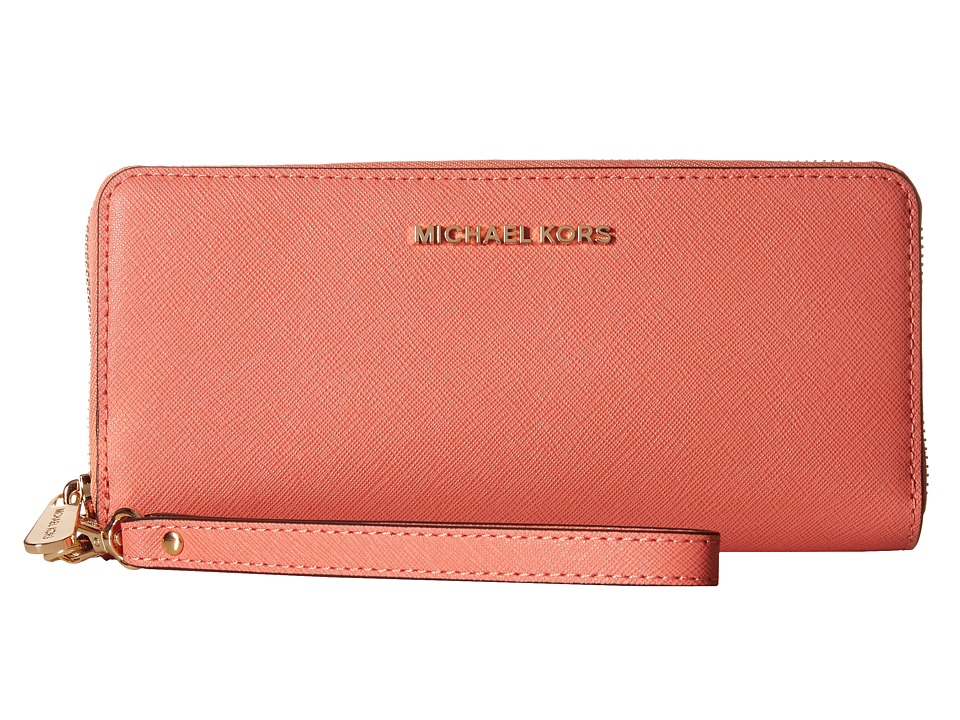 MICHAEL Michael Kors - Jet Set Travel Travel Continental (Pink Grapefruit) Clutch Handbags