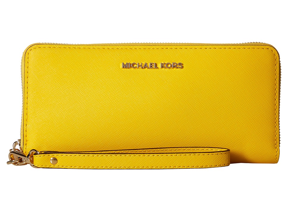 MICHAEL Michael Kors - Jet Set Travel Travel Continental (Sunflower) Clutch Handbags
