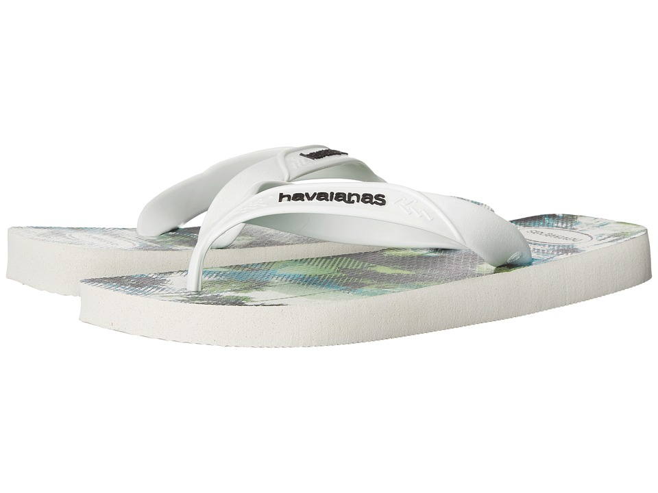 Havaianas - Surf Flip Flops (White 1) Men's Sandals