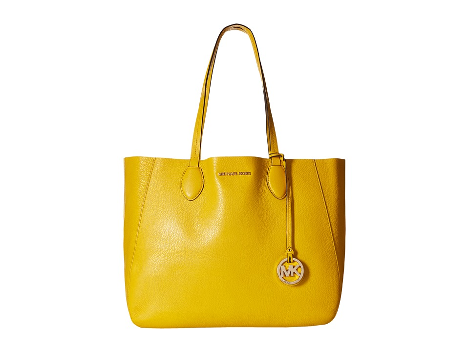 MICHAEL Michael Kors - Mae Large East/West Tote (Sunflower/White) Tote Handbags
