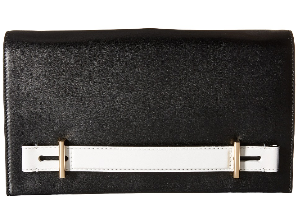 MICHAEL Michael Kors - Chelsey Large Clutch (Black/White) Clutch Handbags