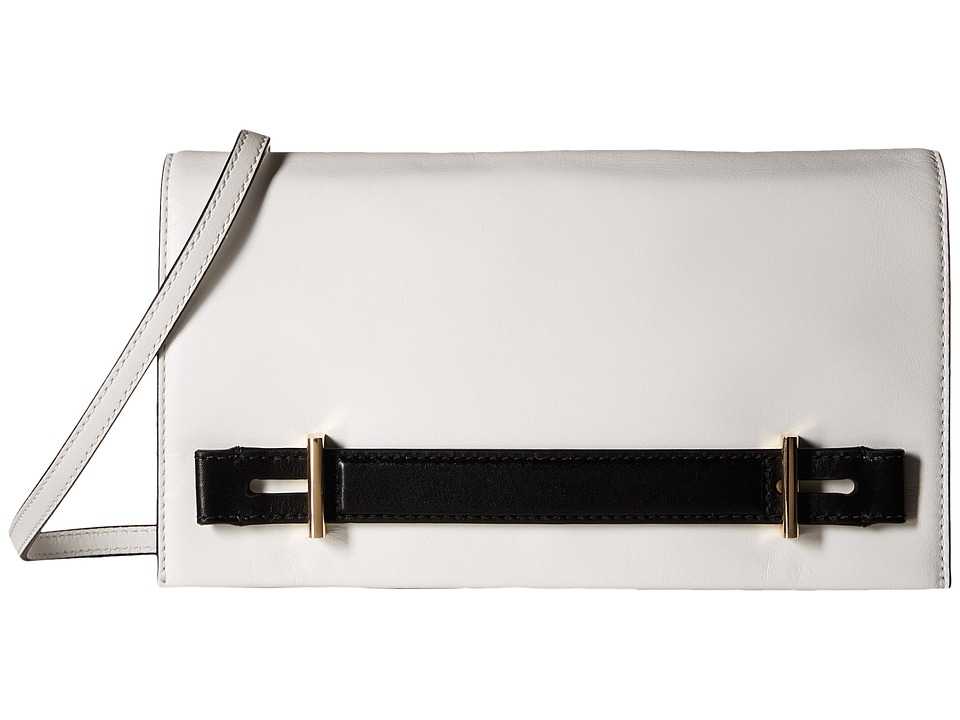 MICHAEL Michael Kors - Chelsey Large Clutch (White/Black) Clutch Handbags