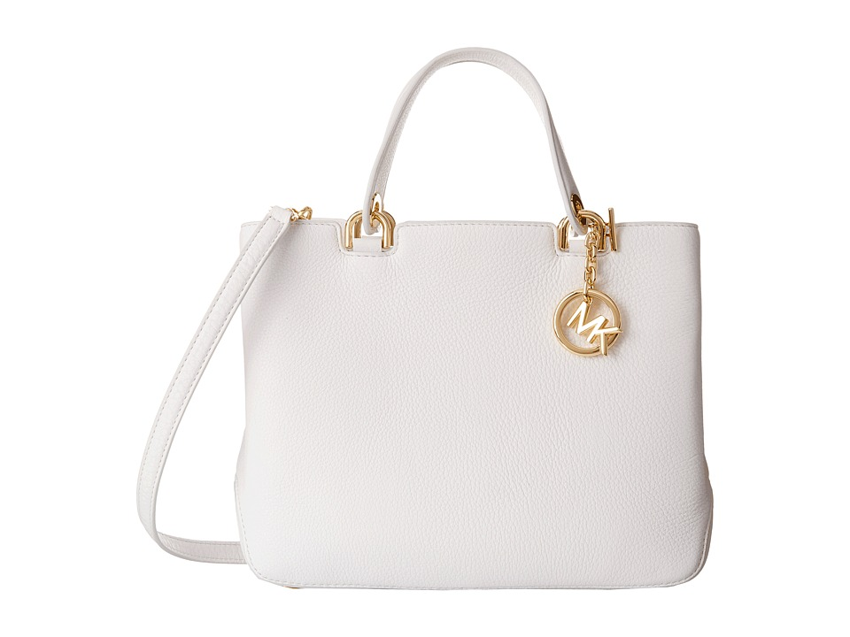MICHAEL Michael Kors - Anabelle Medium Top Zip Tote (Optic White) Tote Handbags