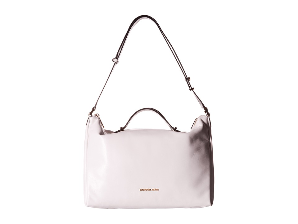 MICHAEL Michael Kors - Chelsey Large Convertible Shoulder (White/Black) Shoulder Handbags