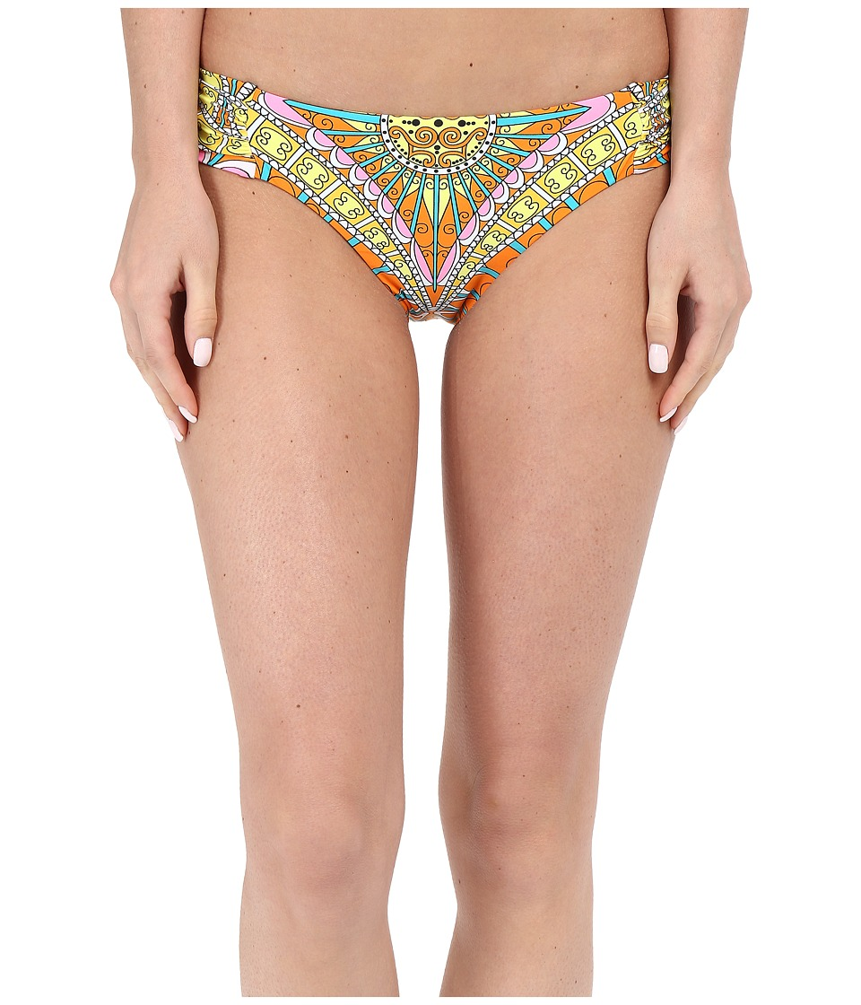 Trina Turk - Capri Shirred Side Hipster (Orange Sherbet) Women's Swimwear