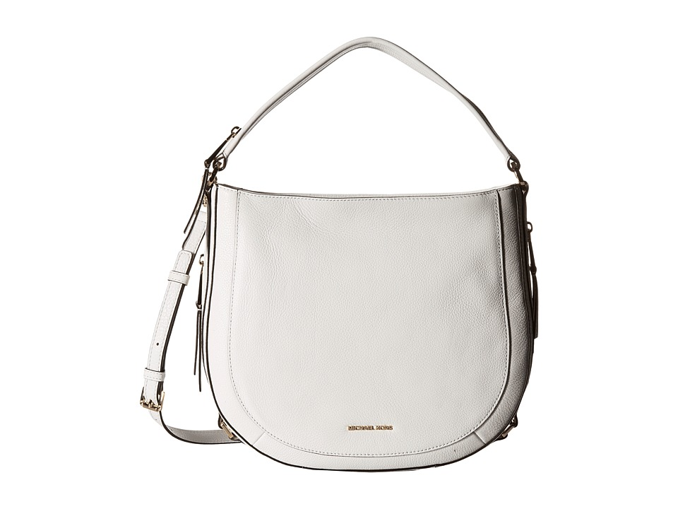 MICHAEL Michael Kors - Julia Medium Convertible Shoulder (Optic White) Shoulder Handbags