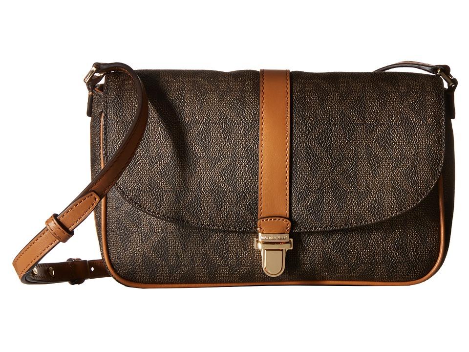 MICHAEL Michael Kors - Charlton Large Crossbody (Brown) Cross Body Handbags