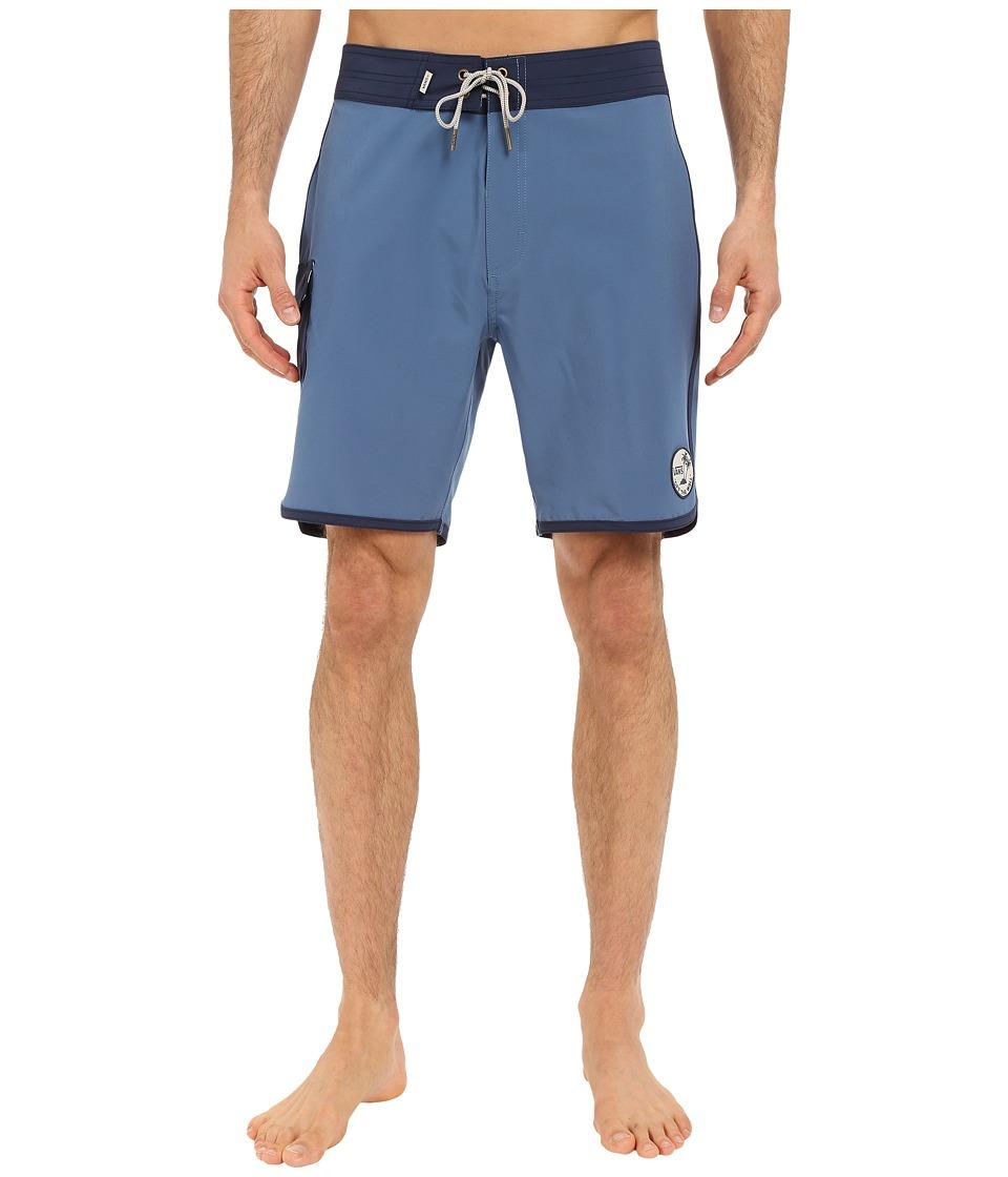 Vans - Classic Scallop Boardshorts (Blue Ashes/Dress Blues) Men's Swimwear
