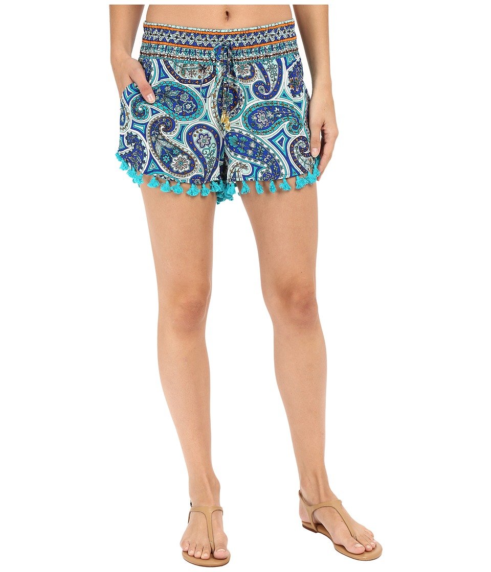 Trina Turk - Provence Paisley Shorts Cover-Up (Pool) Women's Swimwear