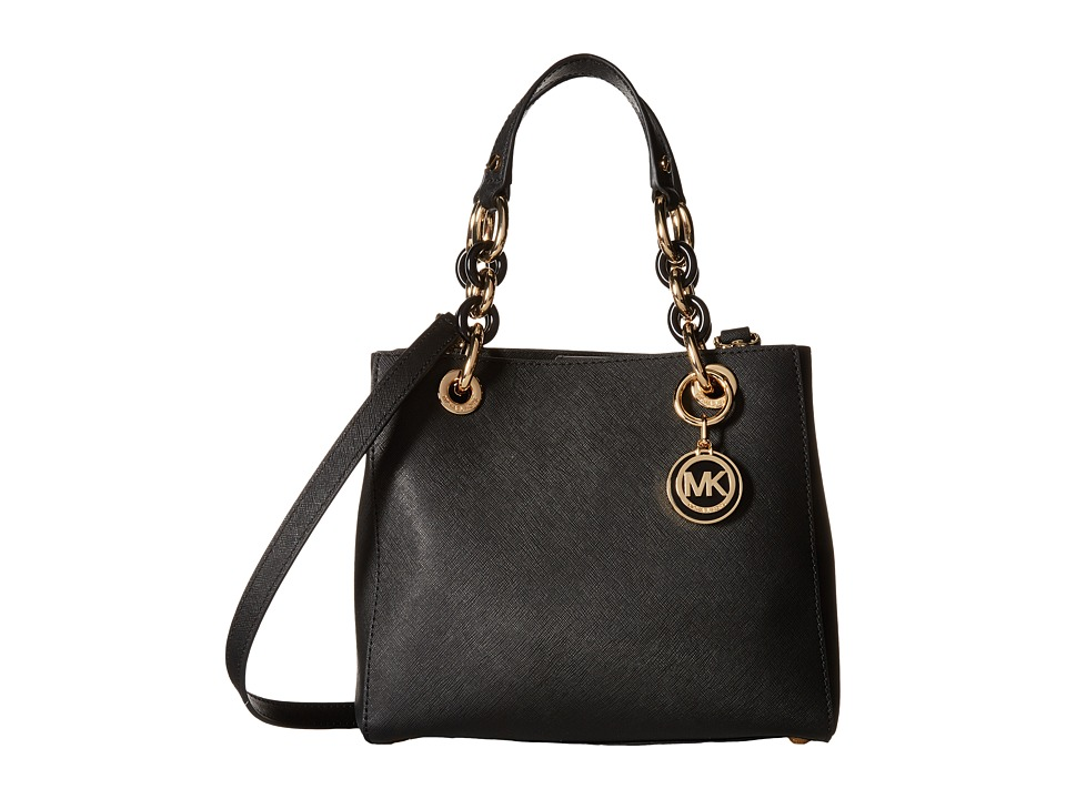 MICHAEL Michael Kors - Cynthia Small North/South Satchel (Black) Satchel Handbags