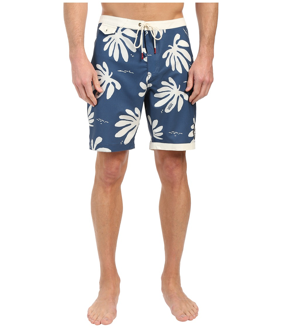 Vans - JT TrimLine Boardshort (Dress Blues Montauk Floral) Men's Swimwear