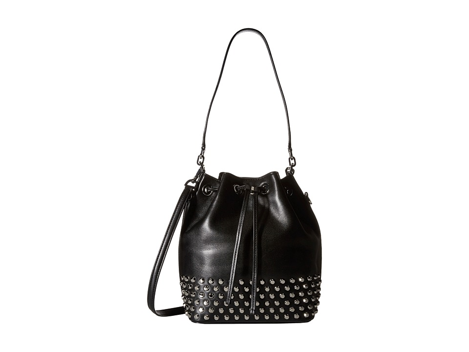 MICHAEL Michael Kors - Dottie Large Studded Bucket Bag (Black) Handbags