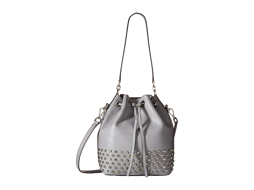 MICHAEL Michael Kors - Dottie Large Studded Bucket Bag (Dove) Handbags
