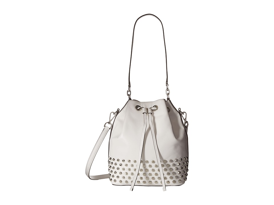 MICHAEL Michael Kors - Dottie Large Studded Bucket Bag (Optic White) Handbags