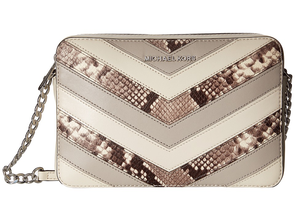 MICHAEL Michael Kors - Jet Set Travel Large East/West Crossbody (Natural) Cross Body Handbags
