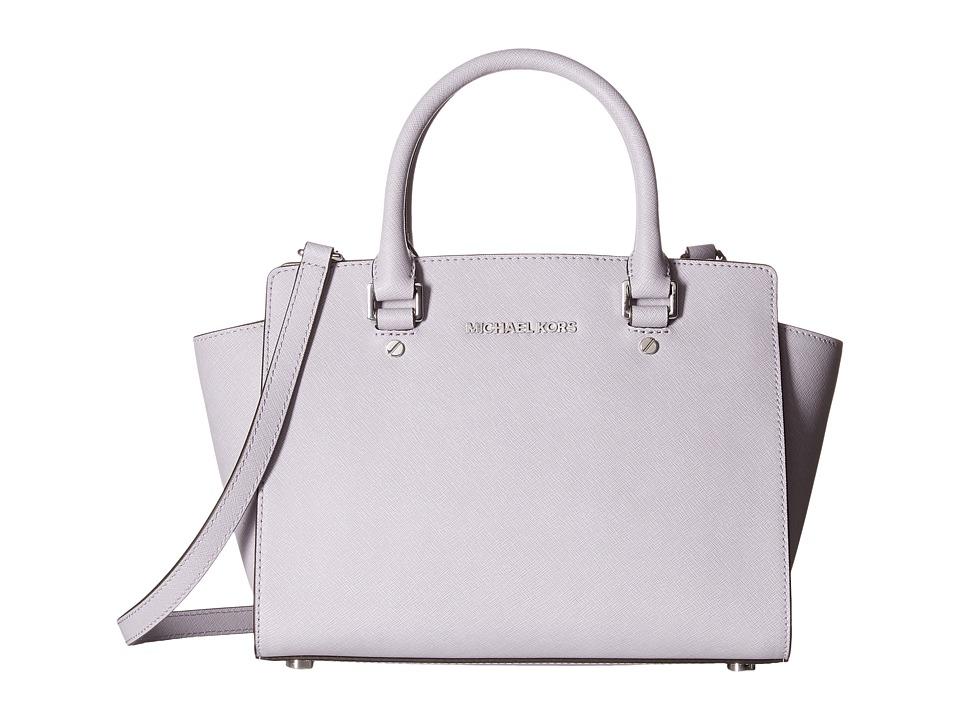 MICHAEL Michael Kors - Selma Medium Top Zip Satchel (Lilac) Satchel Handbags