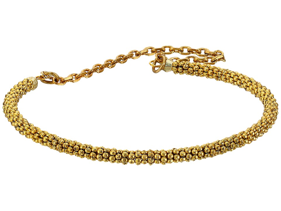 Vanessa Mooney - The Swan Daisy Heishi Chain Cuff Bracelet (Gold) Bracelet