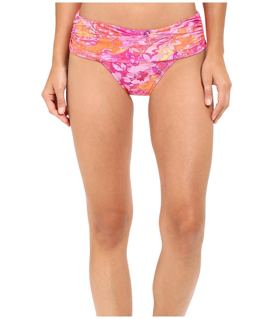 LAUREN Ralph Lauren - Oceania Floral Wide Shirred Banded Hipster (Pink Multi) Women's Swimwear