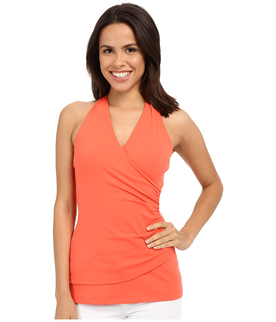 Susana Monaco - Wrap Halter Top (Blaze) Women's Sleeveless