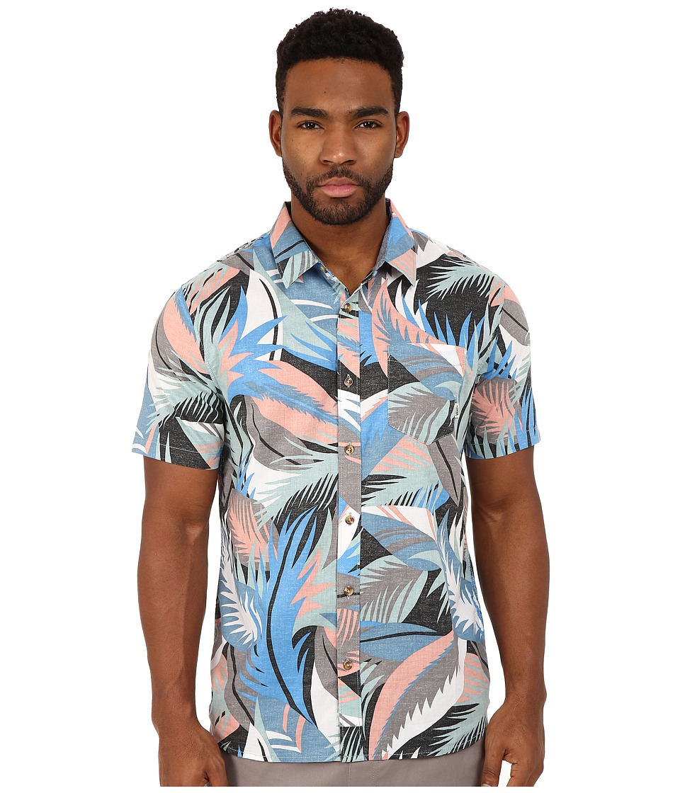 Vans - Cosgrove II Woven (Canton Stanton Floral) Men's Short Sleeve Button Up