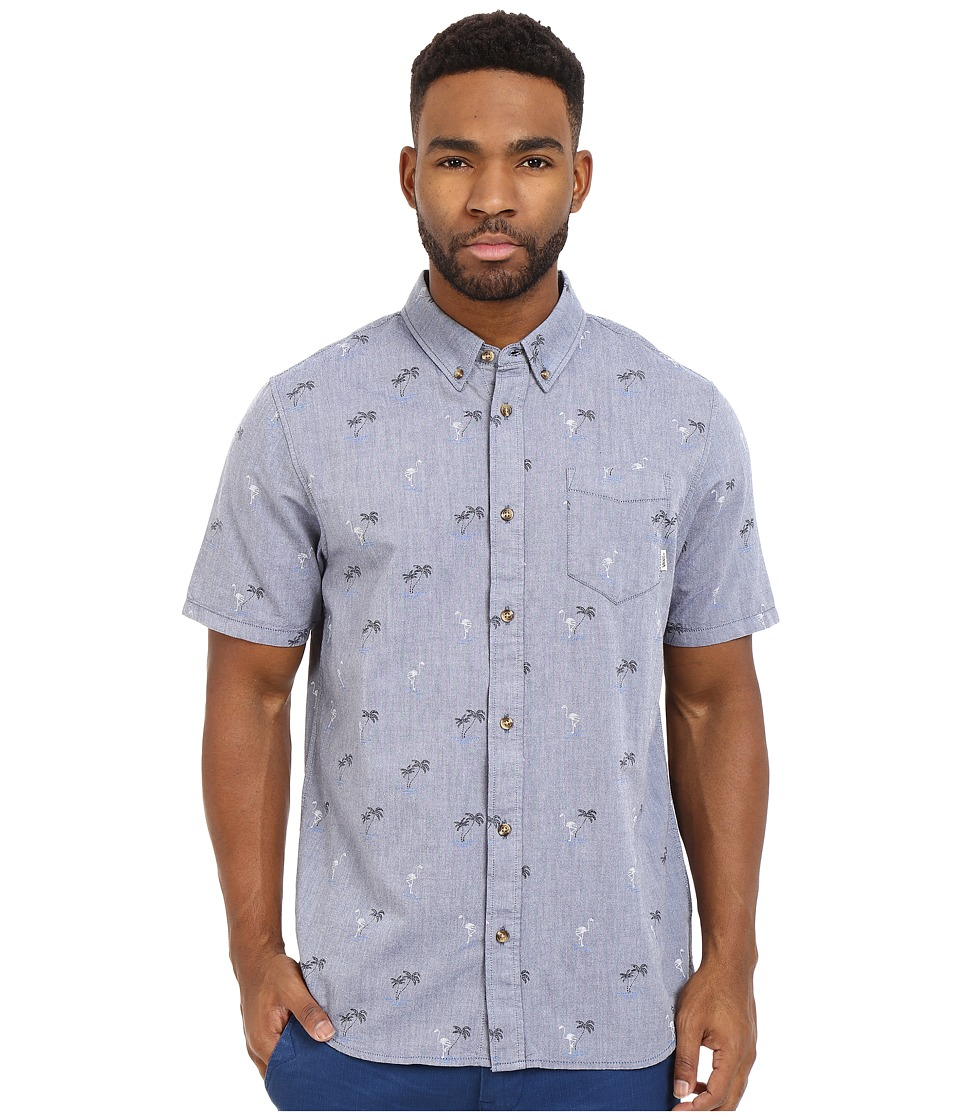 Vans - Houser S/S Wovens (Blueprint Flocking Dead) Men's Long Sleeve Button Up