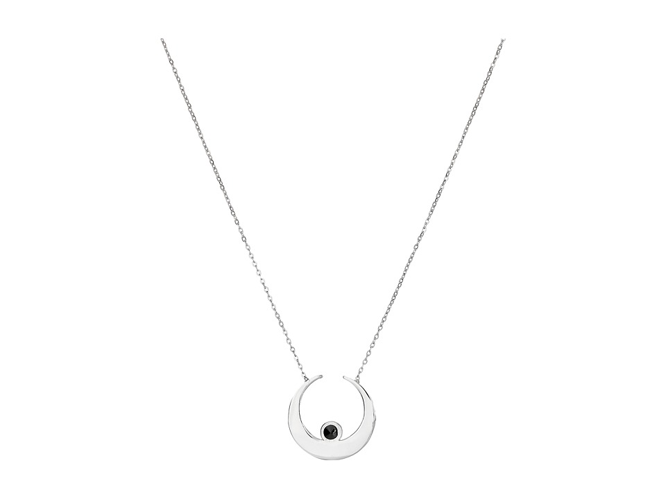 Vanessa Mooney - The Sadi Crescent Moon Necklace (Silver) Necklace
