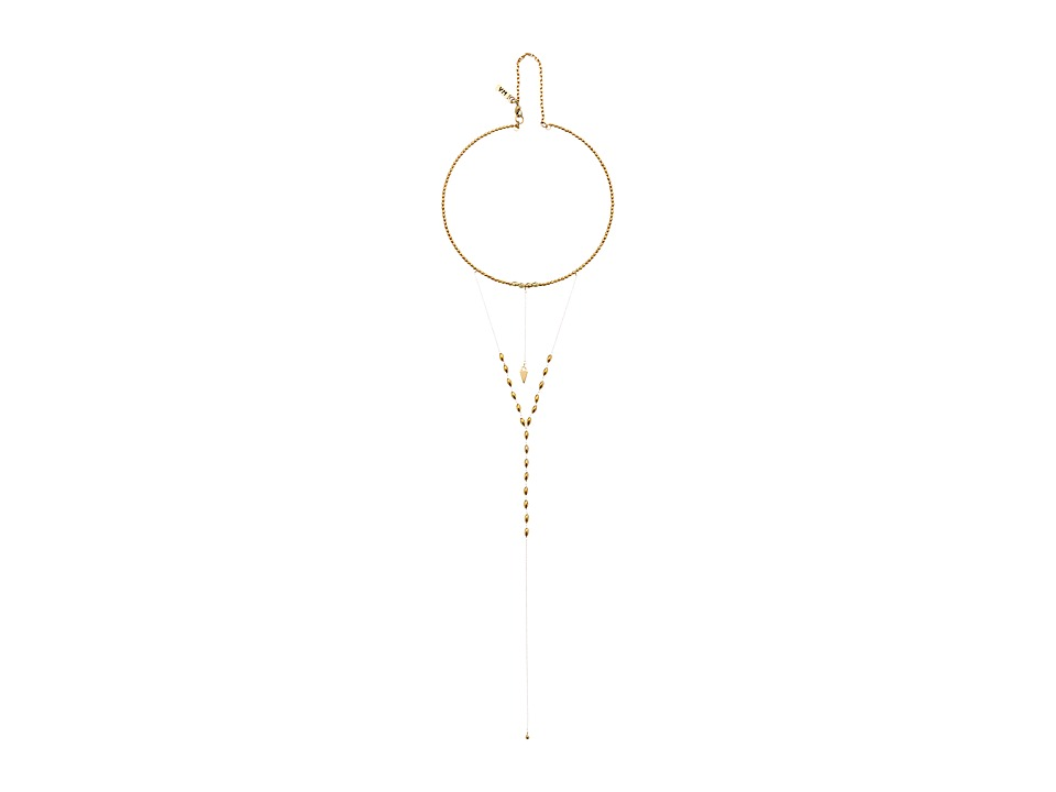Vanessa Mooney - The Sadi Stacked Crescent Moon Necklace (Gold) Necklace