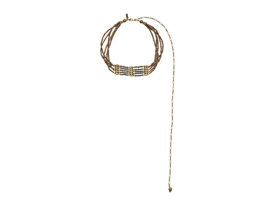 Vanessa Mooney - The Marion Choker Necklace (Brass) Necklace