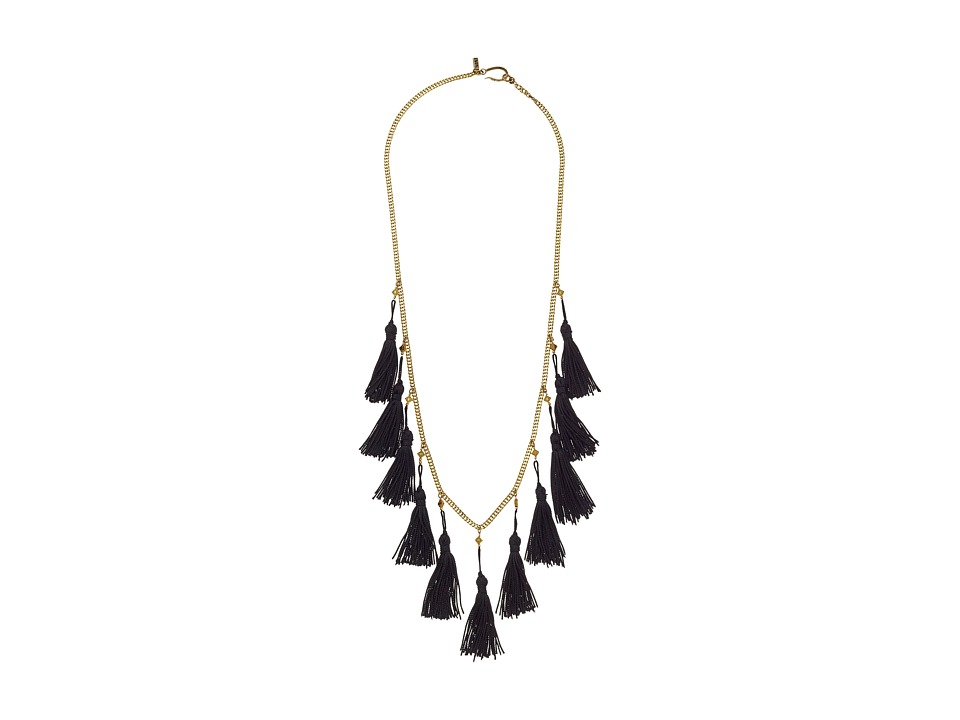 Vanessa Mooney - The Lovell Tassel Necklace (Gold) Necklace