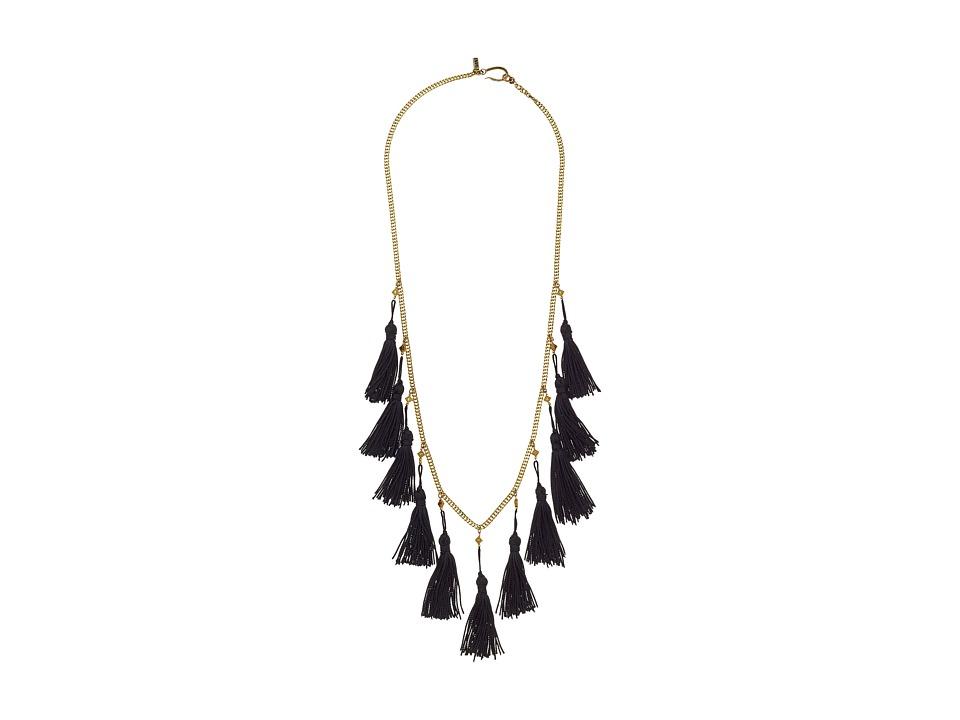 Vanessa Mooney - The Lovell Tassel Necklace (Gold) Necklace