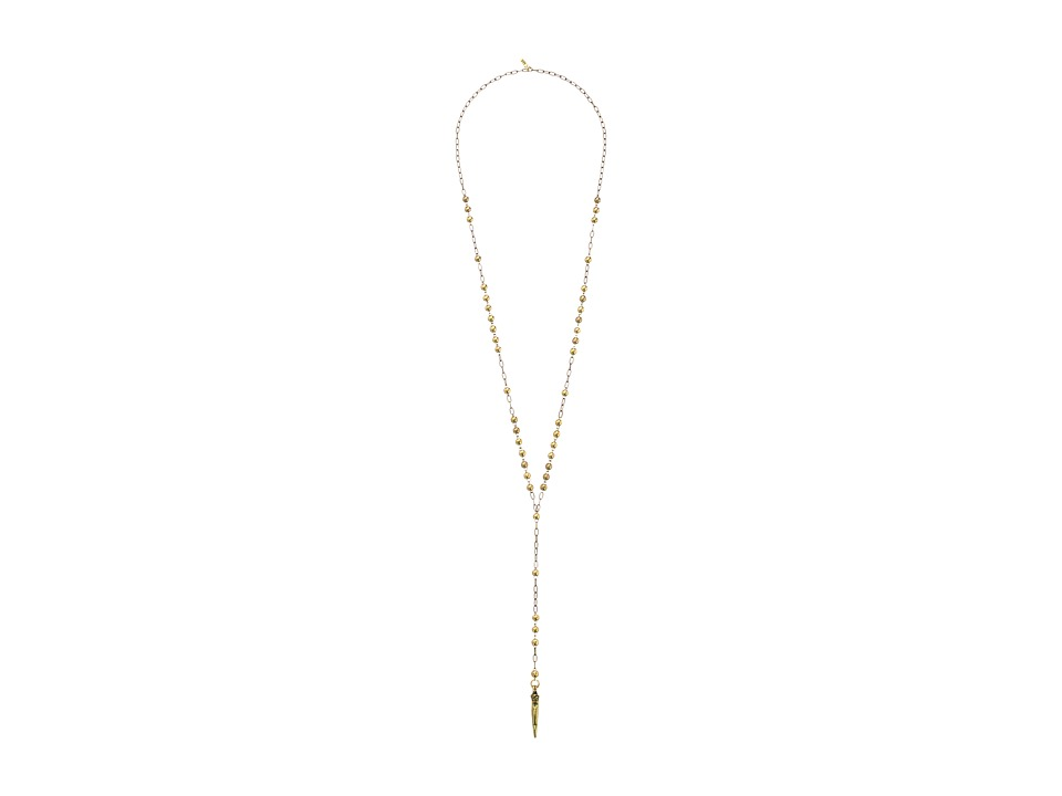 Vanessa Mooney - The Fairfax Rosary Necklace (Gold) Necklace