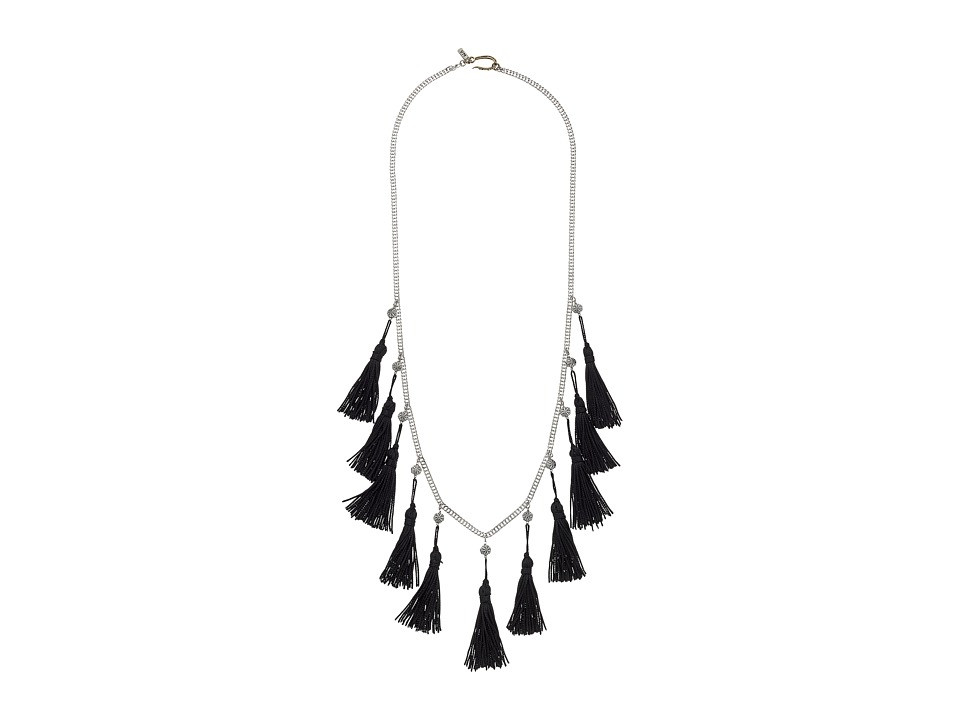 Vanessa Mooney - The Lovell Tassel Necklace (Silver) Necklace