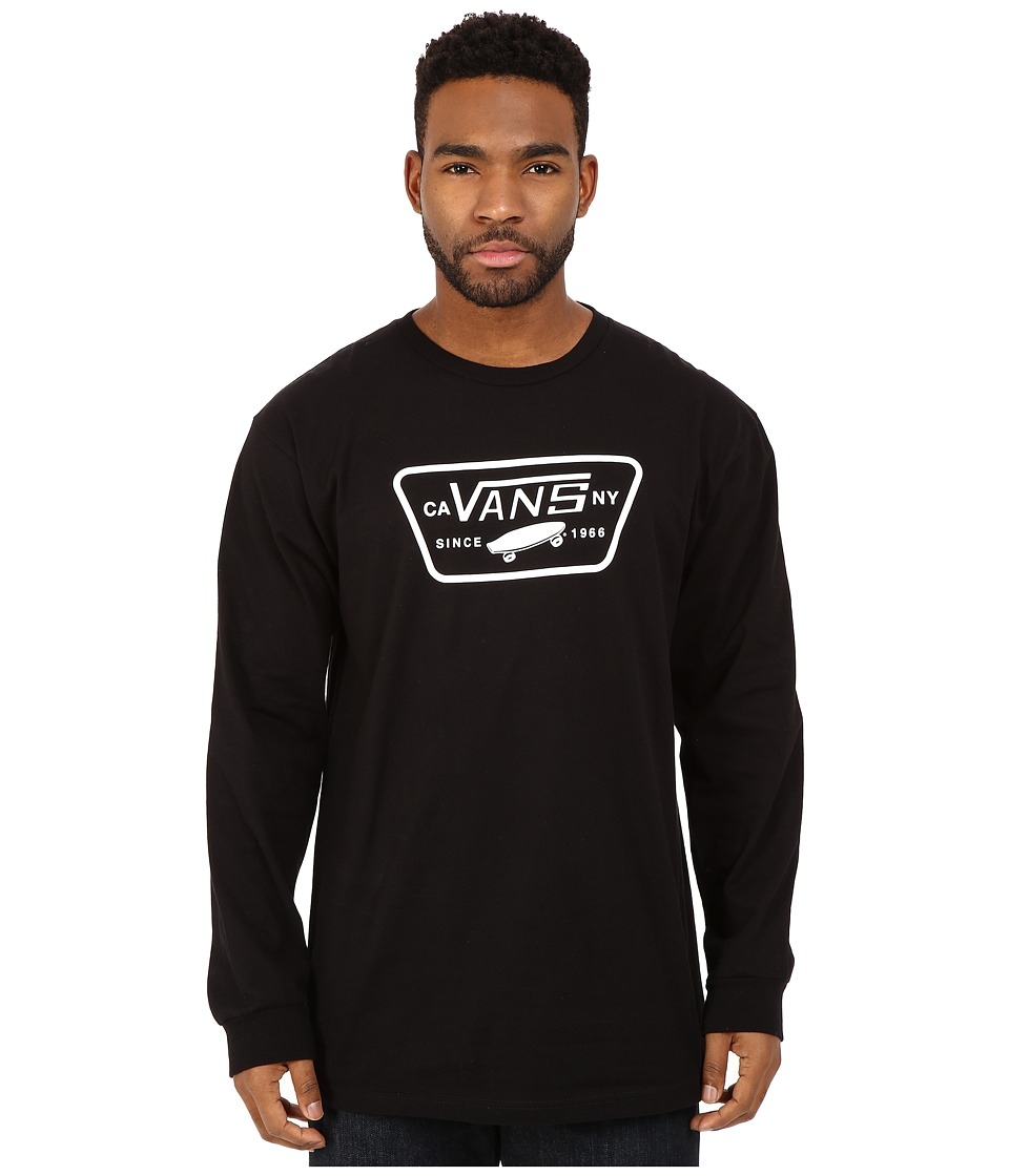 Vans - Full Patch Long Sleeve (Black) Men's T Shirt