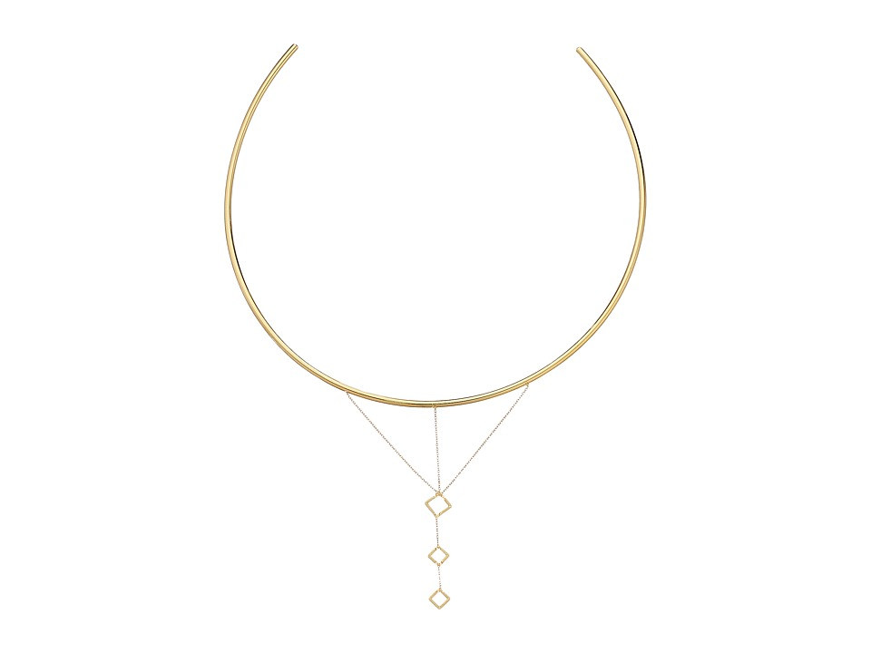 Vanessa Mooney - The Casablanca Cut Out Diamond Chain Choker Necklace (Gold) Necklace