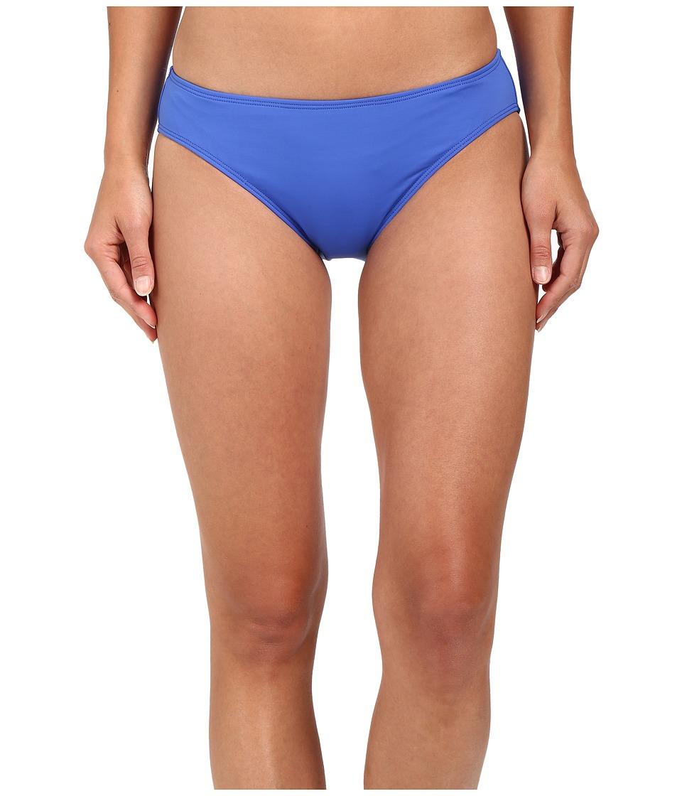 LAUREN Ralph Lauren - Beach Club Solids Solid Hipster w/ Logo Plate (Periwinkle) Women's Swimwear