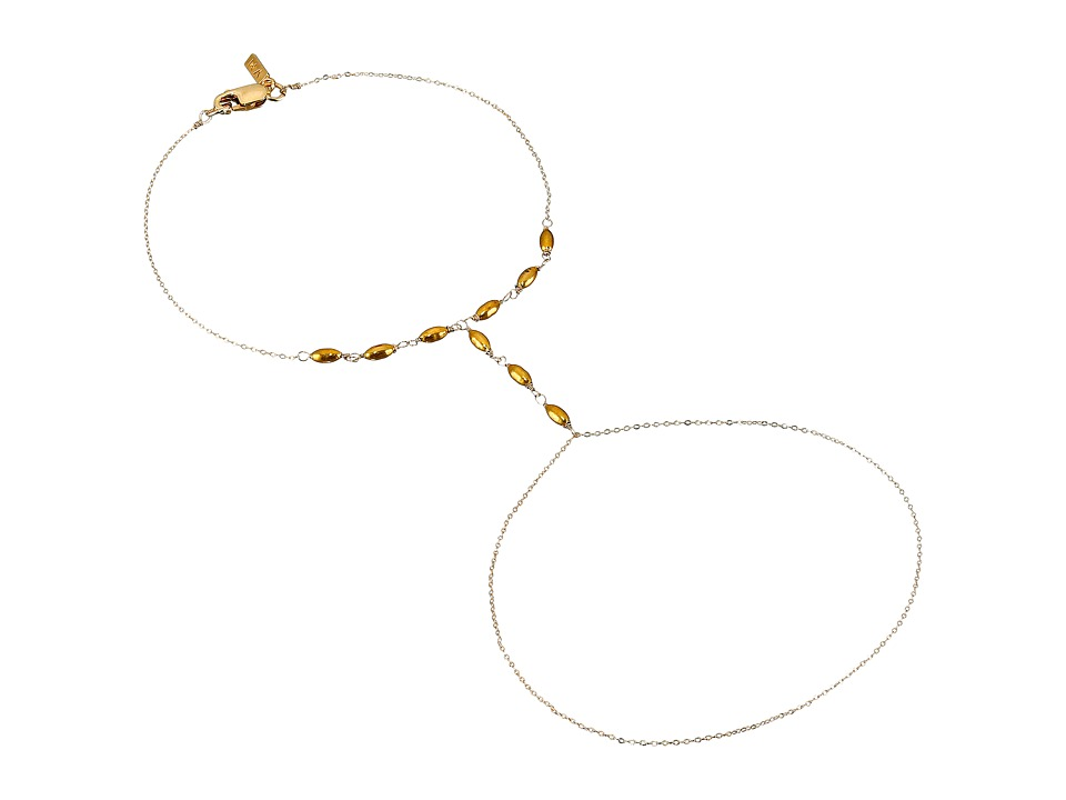 Vanessa Mooney - The Golden Age Hand Chain Bracelet (Gold) Bracelet