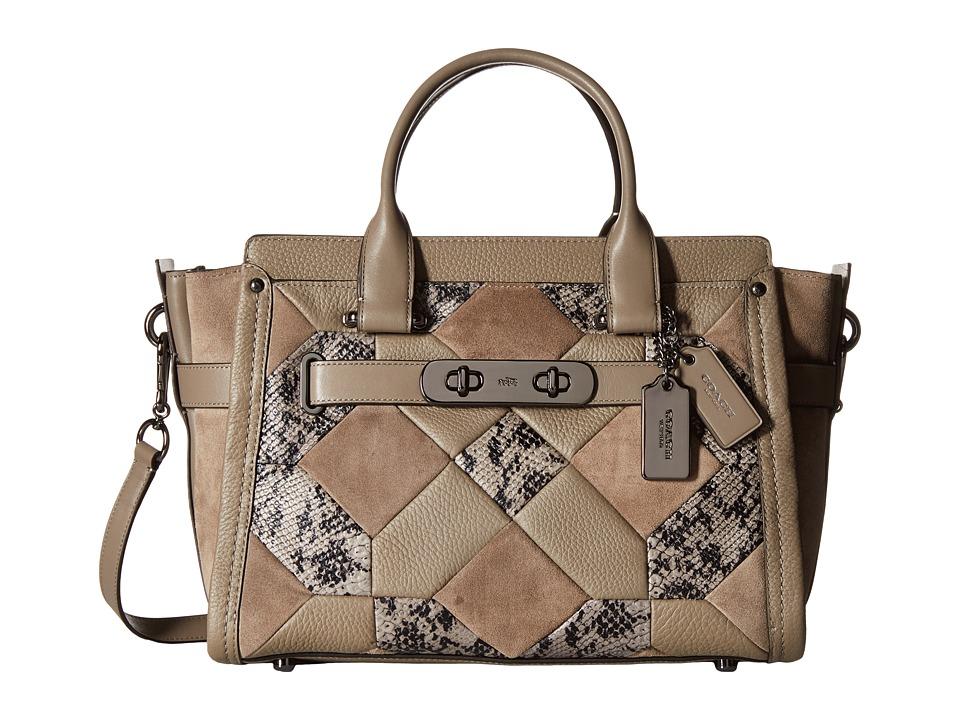 COACH - Swagger (DK/Fog) Satchel Handbags