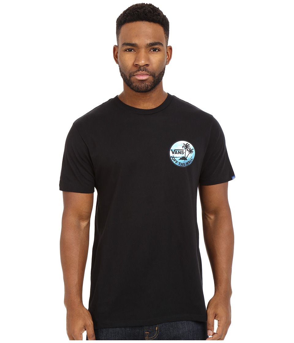 Vans - Dual Palm Photo Fill (Black) Men's T Shirt