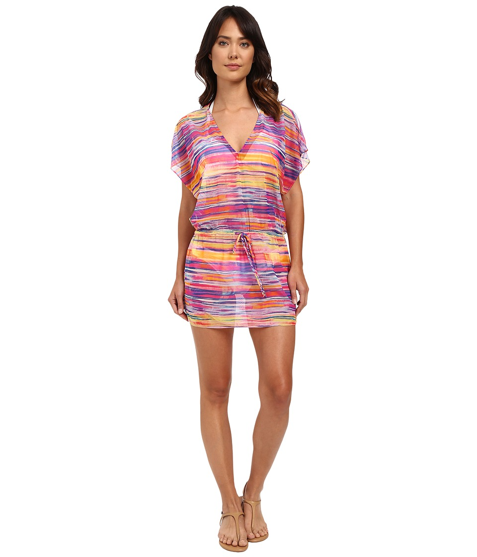 LAUREN Ralph Lauren - Summer Tie-Dye Poolside Tunic Cover-Up (Multi) Women's Swimwear