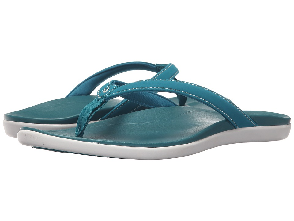 OluKai - Ho'opio (Teal/Teal) Women's Sandals